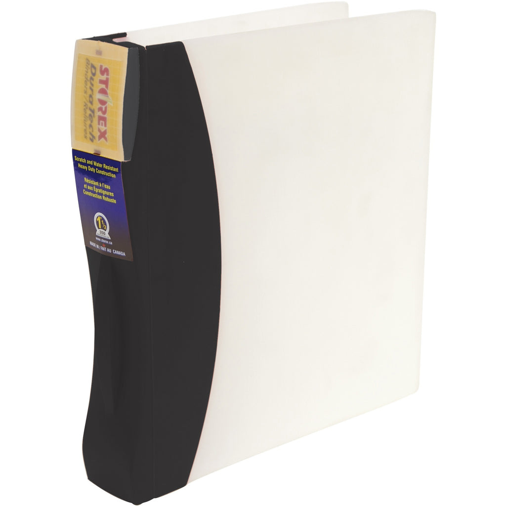Storex Duratech Frosted Poly Round Ring Presentation Binder