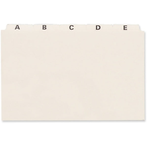 Oxford PlainTab Index Card File Guide