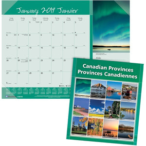 Blueline Monthly Canadian Provinces Planner