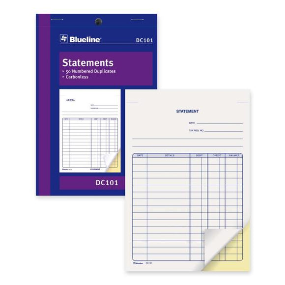 Blueline DC101 Statement Book