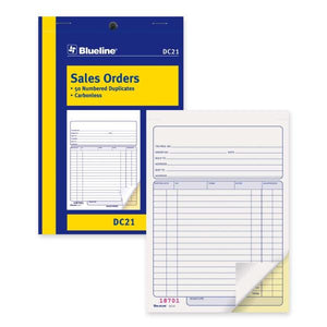Blueline Sales Order Book