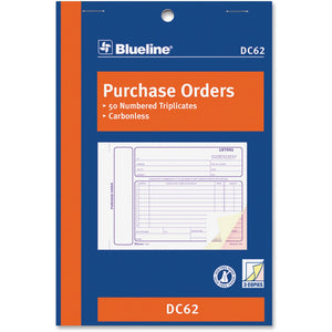 Blueline Purchase Order Form Book DC62