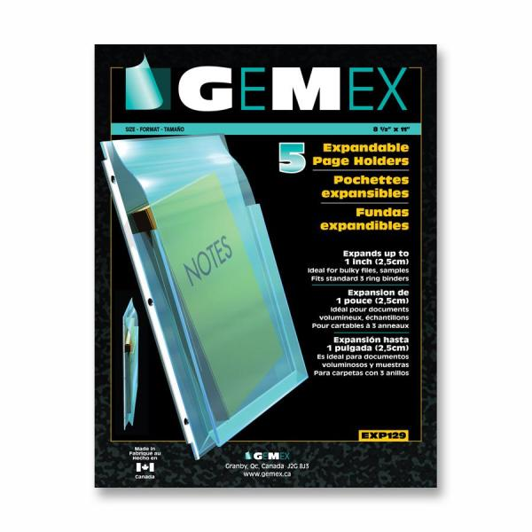 Gemex Super Expandable Page Holder with Flap