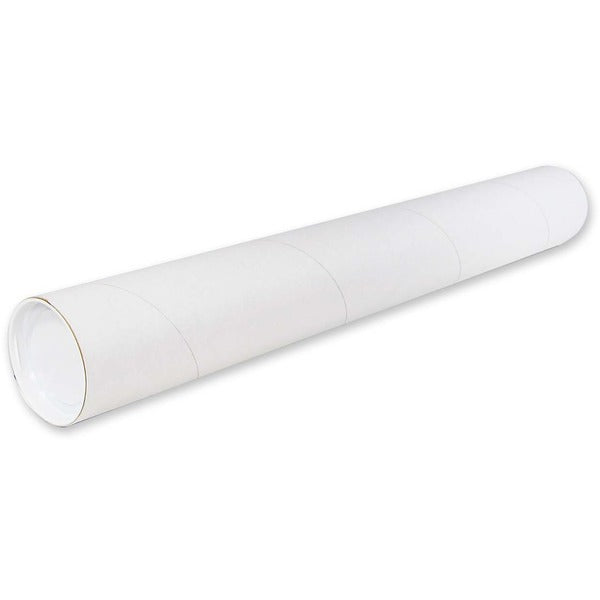 "Crownhill Kraft Mailing Tubes - 24"" Length - 3"" Diameter - Kraft - 1 Each - White"