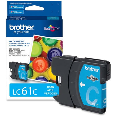 Brother LC 61 Original Ink Cartridge - Inkjet - 325 Pages - Cyan - 1 Each