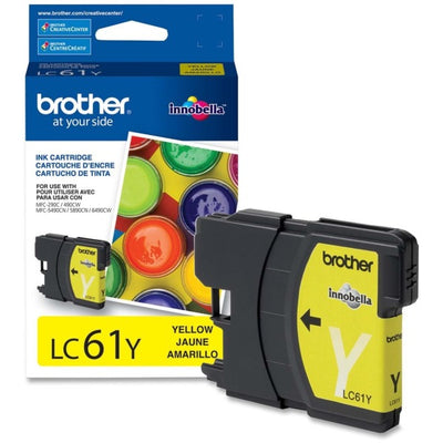 Brother LC 61 Original Ink Cartridge - Inkjet - 325 Pages - Yellow - 1 Each