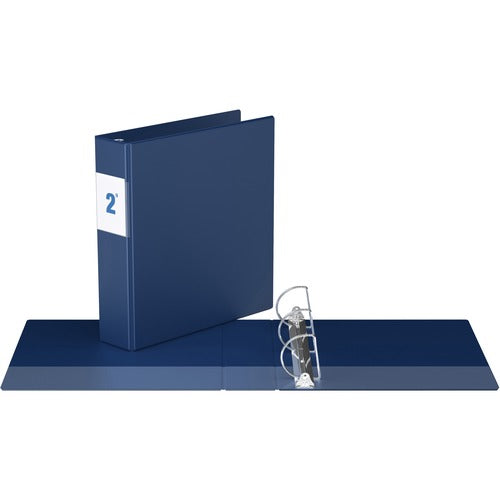 "Davis Angle-D Ring Commercial Binder - 2"" - Blue"