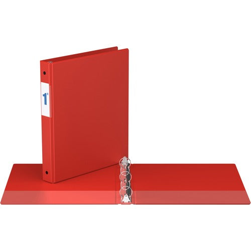 "Davis Round Ring Commercial Binder - 1""  - Red"
