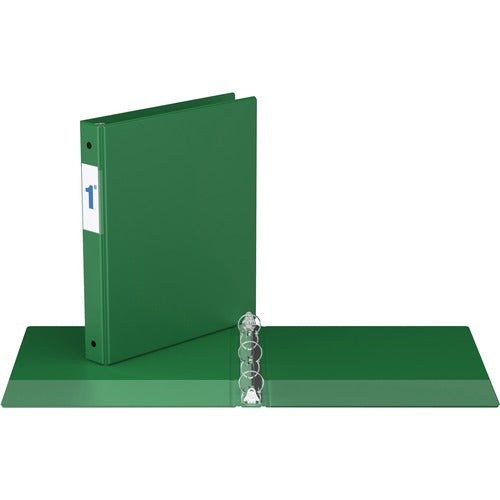 "Davis Round Ring Commercial Binder - 1"" - Green"