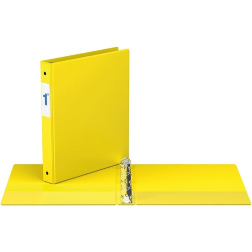 "Davis Round Ring Commercial Binder - 1"" - Yellow"