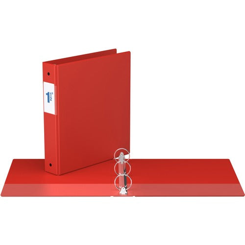 "Davis Round Ring Commercial Binder - 1 1/2"" - Red"