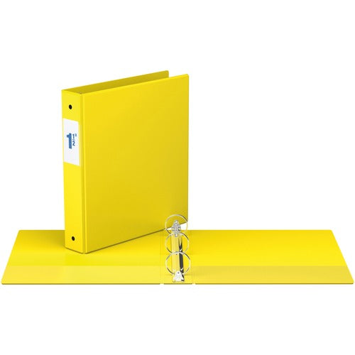 "Davis Round Ring Commercial Binder - 1 1/2"" - Yellow"