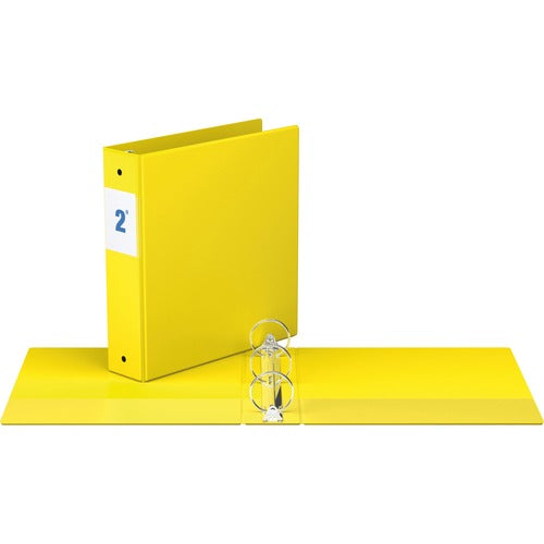 "Davis Round Ring Commercial Binder - 2""  Yellow"