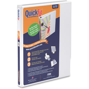 QuickFit QuickFit Round Ring View Binder  - 5/8""