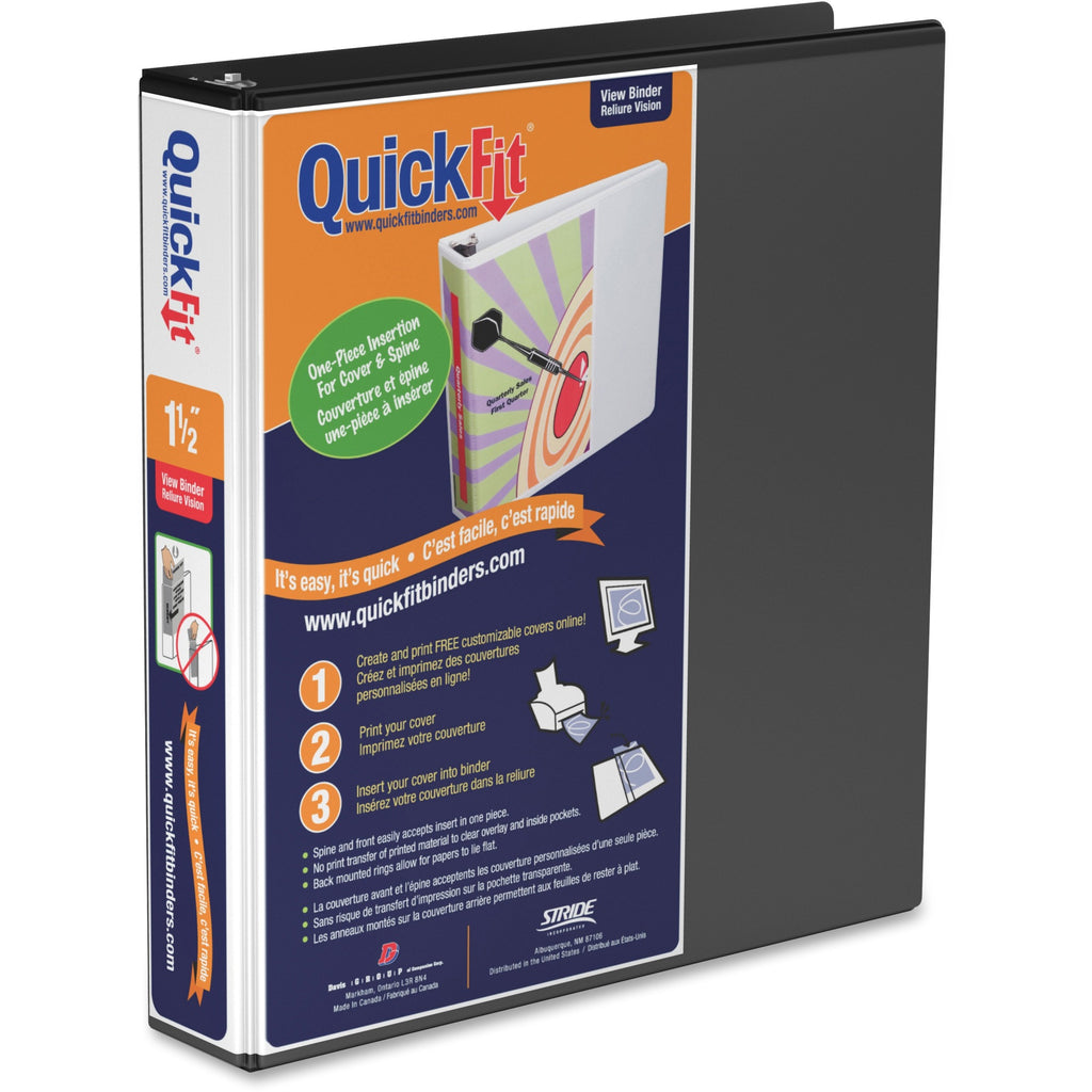 QuickFit QuickFit Angle D ring View Binder 1.5""