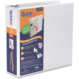 QuickFit QuickFit Angle D ring View Binder 3""