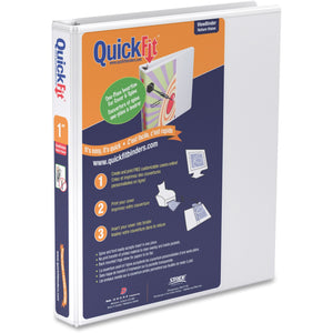 QuickFit QuickFit Round Ring View Binder 1""