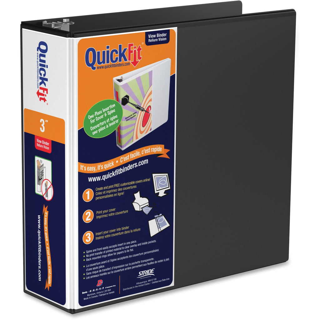 QuickFit QuickFit Round Ring View Binder 3""