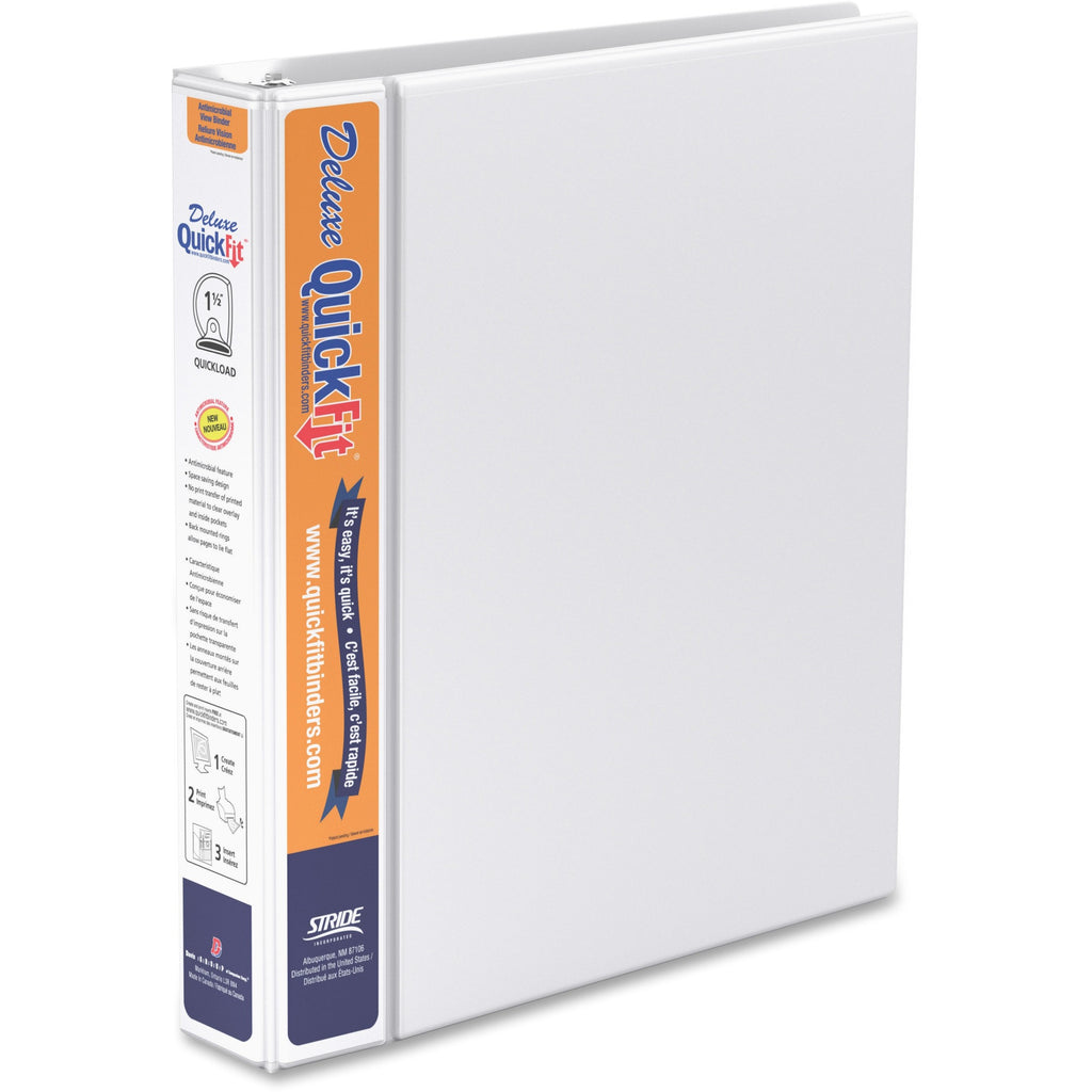 QuickFit QuickFit Round Ring Deluxe View Binder 1.5""