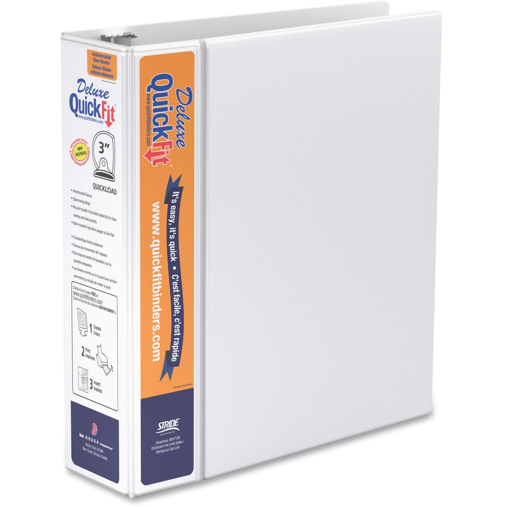 QuickFit QuickFit Round Ring Deluxe View Binder 3""