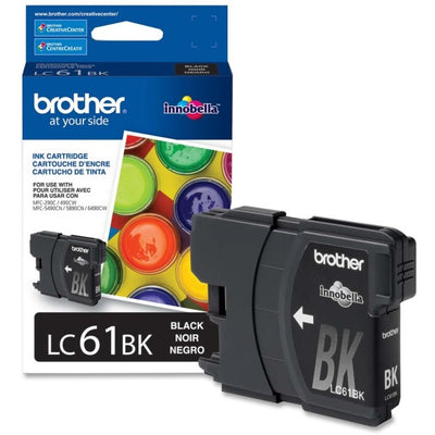 Brother LC 61Original Ink Cartridge - Inkjet - 450 Pages - Black - 1 Each