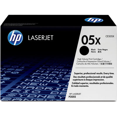 HP 05X Original Toner Cartridge - Single Pack - Laser - High Yield - 6500 Pages - Black - 1 Each