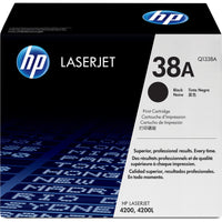 HP 38A Original Toner Cartridge - Single Pack - Laser - 12000 Pages - Black - 1 Each