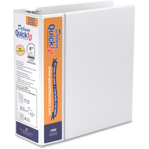QuickFit QuickFit Round Ring Deluxe View Binder 4""