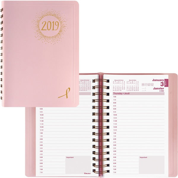 Blueline Pink Ribbon Daily Diary 2020