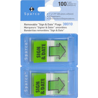 Sparco inSign & Datein Preprinted Flags in Dispenser
