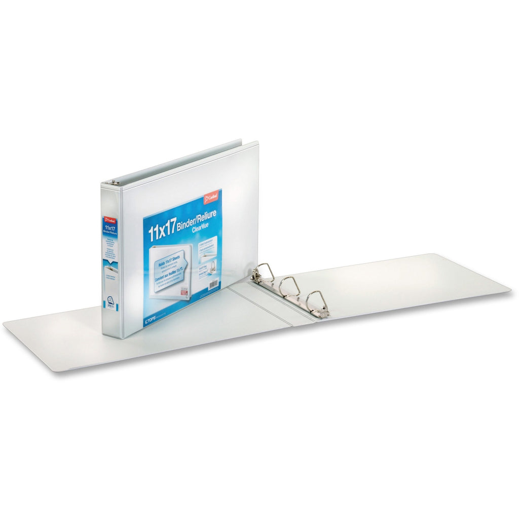 Cardinal ClearVue Overlay Tabloid D Ring Binders 1.5""