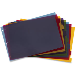 Cardinal Poly Divider with Adhesive Tabs 11.5x17.5 - 8 Tab