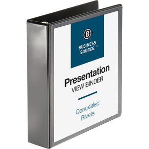 "Business Source Round ring View Binder - 2"" Binder Capacity"