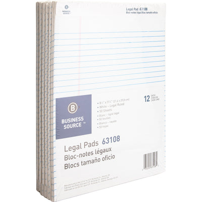 Business Source Micro Perforated Legal Ruled Pads 12PK