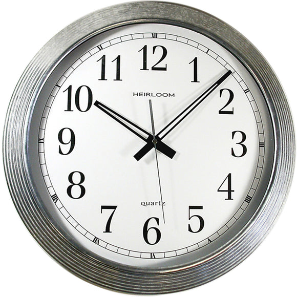Artistic 16in Galvanized Metal Round Wall Clock