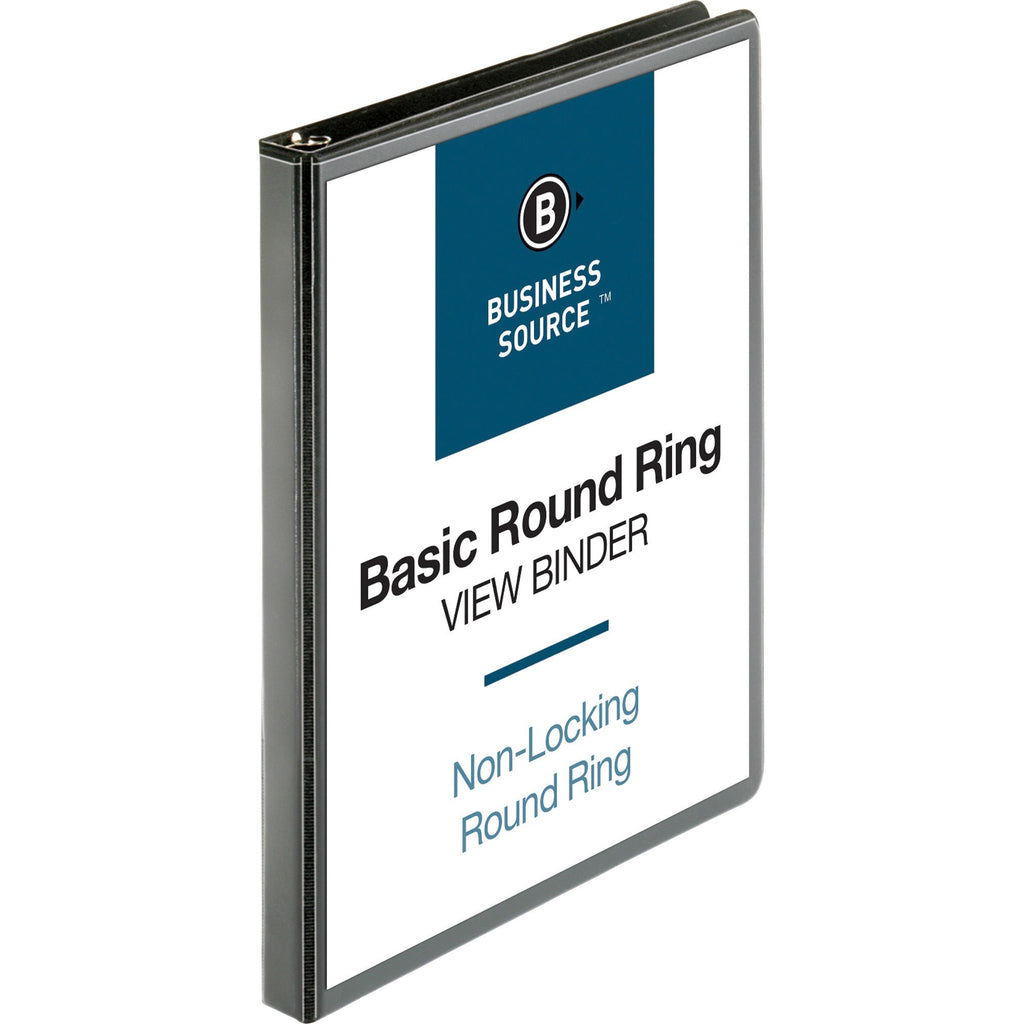 "Business Source Round ring View Binder 1/2"" Binder Capacity -"