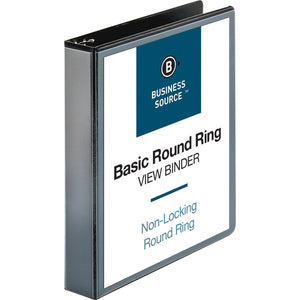 "Business Source Round ring View Binder  1 1/2"" Binder Capacity"