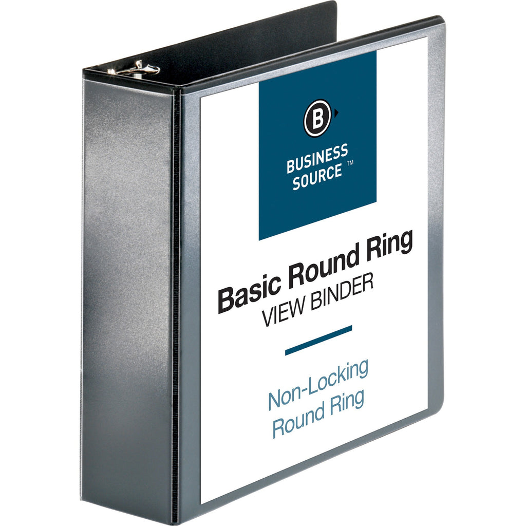 "Business Source Round ring View Binder  - 3"" Binder Capacity"