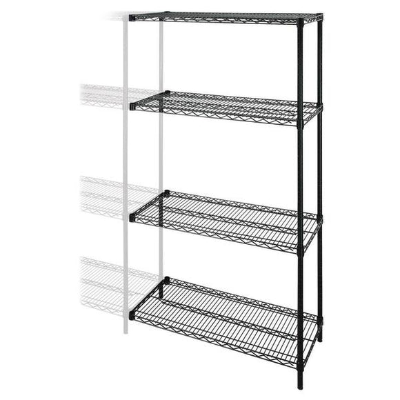 Lorell Industrial Wire Shelving Add On Unit