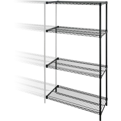 Lorell Industrial Adjustable Wire Shelving Add On Unit