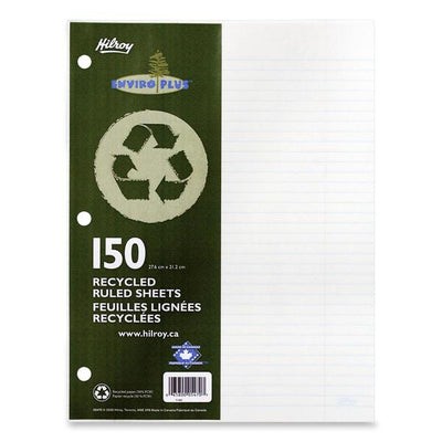 Hilroy 05470 Recycled Notebook Filler Paper 150 Sheets