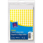 Avery 14001 Color Coding Label Yellow Mini Round Labels 1152/pk