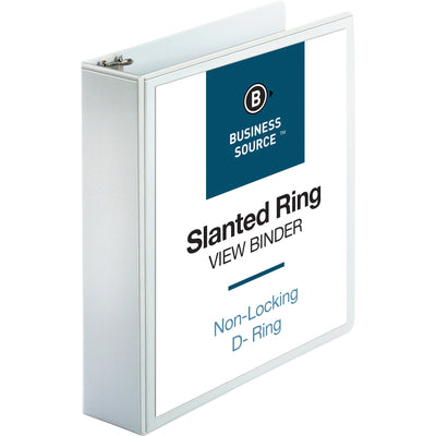 Business Source Basic D Ring White View Binders  2