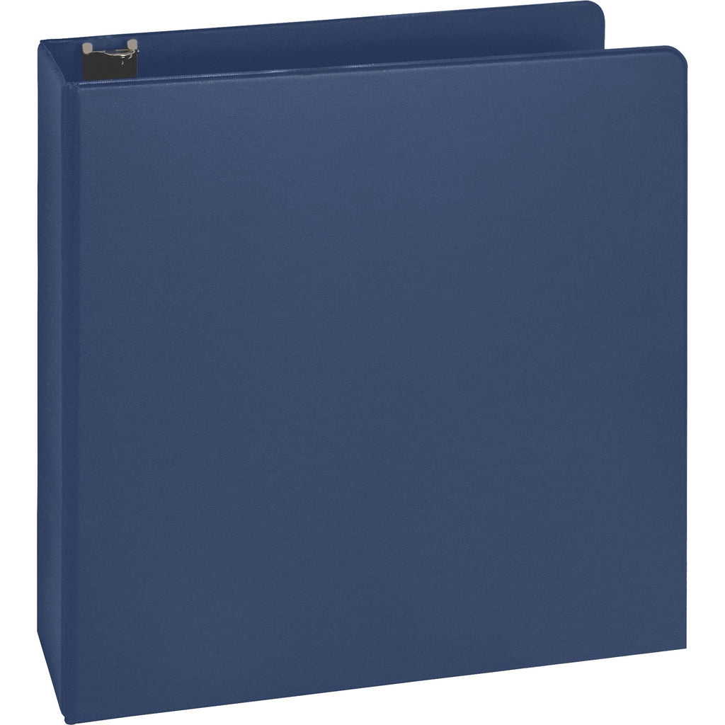 "Business Source Basic Round Ring Binders, 2"", letter, Dark Blue"