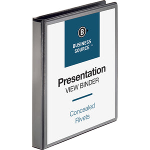 Business Source Round Ring Standard View Binders 1""
