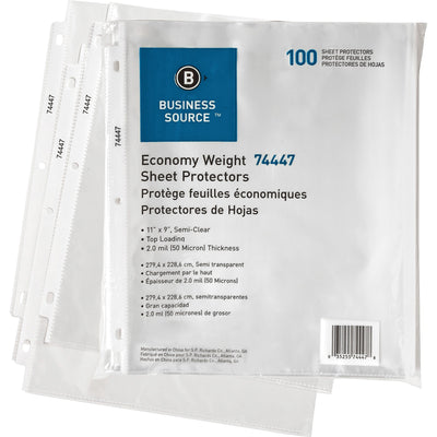 Business Source Economy Weight Sheet Protectors 100PK