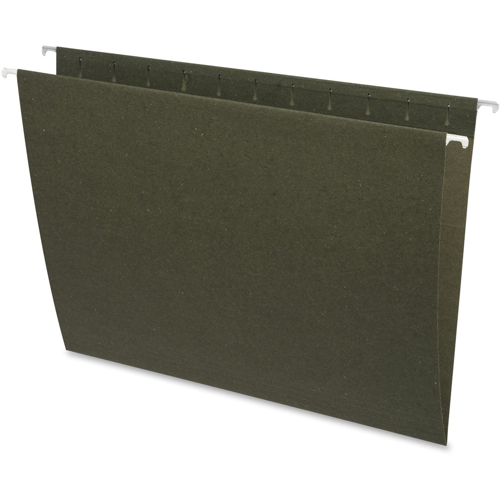 Business Source Standard Hanging File Folders, green, 25/box, letter