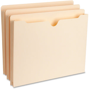 Business Source 1in Expansion Heavyweight File Pockets