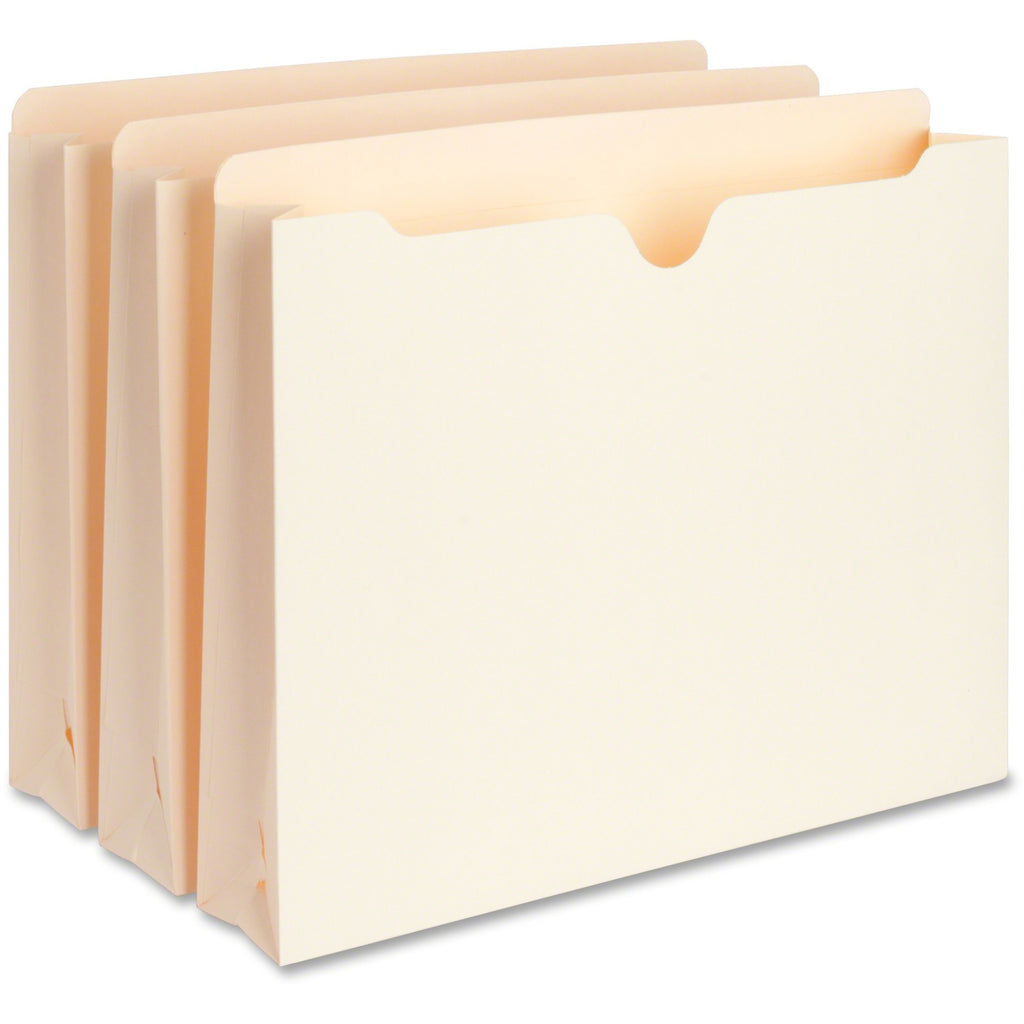 Business Source 2 Ply Vertical Expanding File Pockets