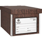 Business Source Economy Medium duty Storage Boxes, legal, 12/Carton, Brown